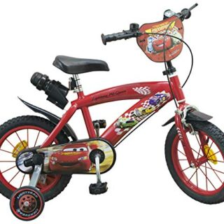 TOIMS Cars - Bicicleta infantil para niños, Niños, Coches, Rojo