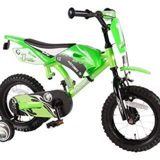 Volare 61207 - Bicicleta de motocross para niños, verde, 12 pulgadas ...