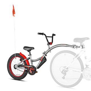 Weeride 56992 Remolque para llantas de bicicleta, Niños, Gris, M
