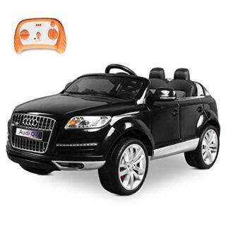 Playkin- Coche de batería para niños, color negro (Audi Q7)