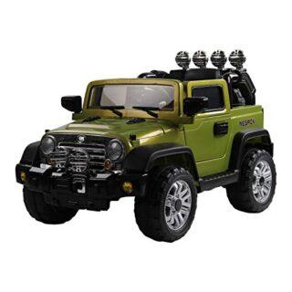 Vehículo eléctrico para niños HOMCOM con luces y sonidos MP3 Coche eléctrico ...