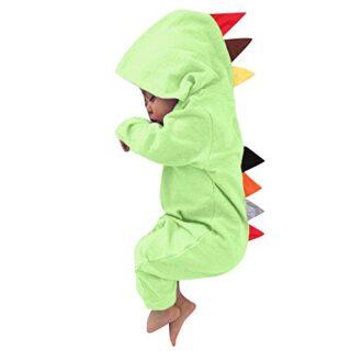 Ropa Bebé niño, JiaMeng Bebé niño niña Dinosaurio patrón Capucha Crema...
