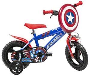 """Dino Bikes Capitán América Niños Unisex City 12 """"Metal Azul, Rojo ..."""