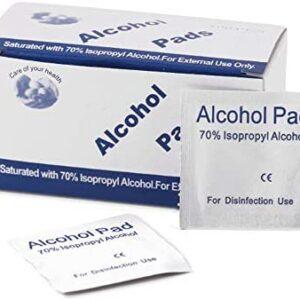 Anself 100pcs Almohadillas de algodón esterilizadas de alcohol desecha...