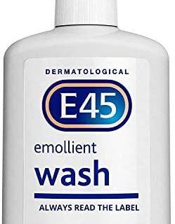 E45 Crema de lavado emoliente dermatológica, 250 ml.