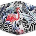 Houity - Máscara a prueba de polvo lavable, diseño de cebra flamingo ...