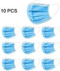 Mascarillas desechables de 10 piezas, no tejidas, antienmascaramiento ...