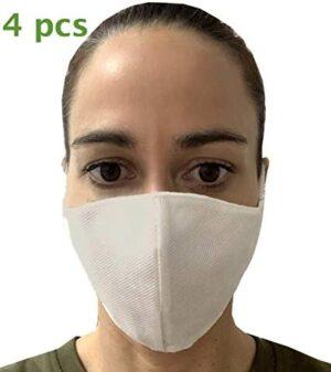 Pack de 4 máscaras de protección contra bacterias lavables y ...