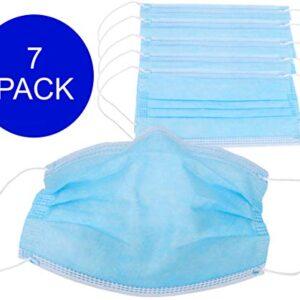 Pack de 7 máscaras faciales protectoras con anillos - 3 capas de prote ...