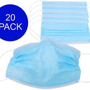 Paquete de 20 mascarillas protectoras con anillos - 3 capas protectoras ...
