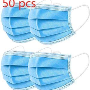Pumoes Mascarilla desechable de 50 piezas con gancho elástico de 3 capas ...