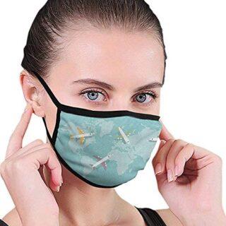 Tapa de boca reutilizable lavable a prueba de polvo colores de avión ...