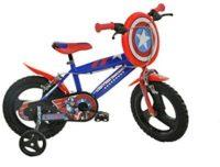 Dino Bikes Capitán América Niños Unisex City Metal Azul, Rojo ...