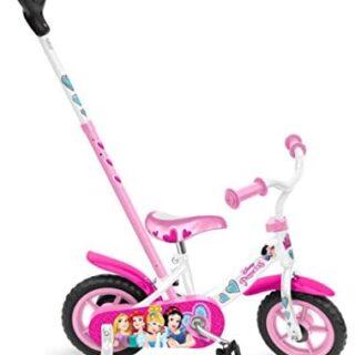"""Stamp SAS Princess Bike 10 """"con barra de empuje + ruedas de fijación, color rosa, ..."""