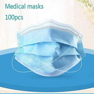 100 piezas mascarilla, 3 capas desechables, máscaras máscaras protectoras ...