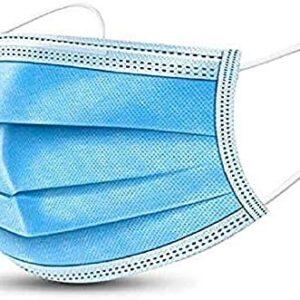 20/50 / 100Pcs Mascarilla desechable de tres capas con recubrimiento en polvo ...