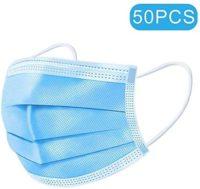 3 capas de máscaras médicos desechables 50pcs máscaras de filtro Cirug...