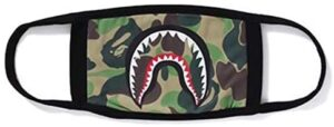 4h6yerf Classic Bape Shark Cotton Mask Sporty Face Guard Cam ...