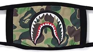 4h6yerf Classic Bape Shark Cotton Mask Sporty Face Guard Cam ...
