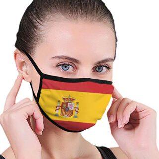 Bandera de España Capucha protectora de moda | Lavable y reutilizable ...