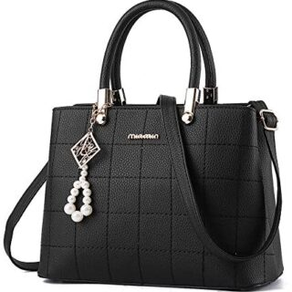 BestoU Bags Bolso de hombro para mujer Shopper Tote PU LEATHER Bag (Negro)