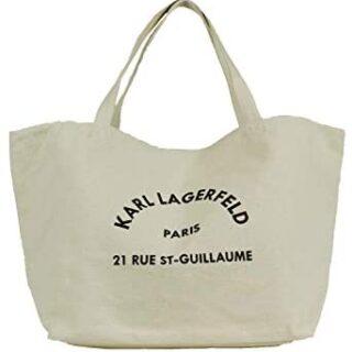 Bolsa de lona natural Karl Lagerfeld 201W3138