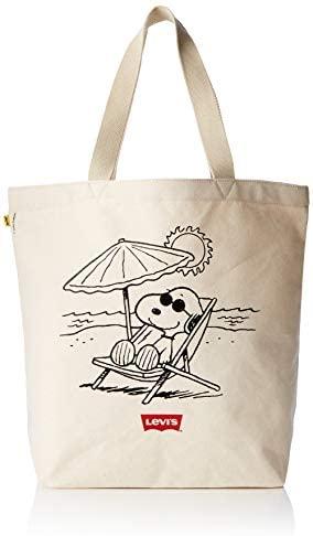 Bolso Levis Peanuts Snoopy Beige Hombre y Mujer