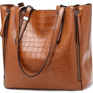 Bolsos de mujer POPOTI, bolsos de hombro de cuero Messenger Bag ...