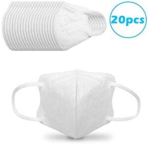 Boquite 20 PCS KN95 Máscaras faciales regulares en bolsas, mascarillas secas ...