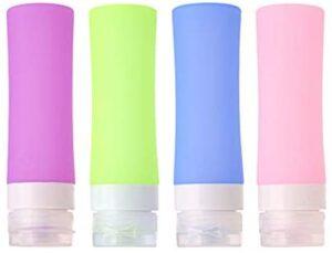 Botellas de viaje de silicona MUUZONING, certificadas por la FDA 100% sin BPA ...