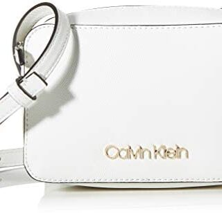 Calvin Klein - Ck Must Camerabag Cav, Bolsos bandolera Mujer, Blanco (...