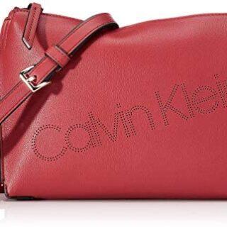 Calvin Klein Punched EW Xbody, Bolso con Bandolera para Mujer, 6x17x24...