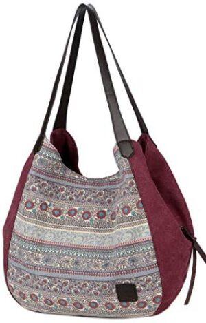 DCCN Bolso de lona, bolso de señora, bolso de compras, bolso de vagabundo