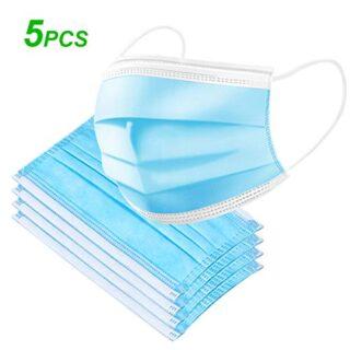 Decdeal- 5 PCS protección facial desechable, filtro de 3 capas, pro ...