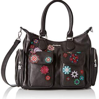Desigual Bag Rep NANIT London Black, Bolso bandolera para Mujer