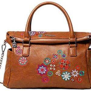 Desigual Bols Loverty Nanit - Bolso de mano para mujer, color marrón