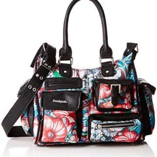 Desigual Bols_yandi London, Bolso para mujer, Estampado floral, Multicolor, ...