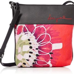 Desigual Poppy Flower Across Body Bag Negro