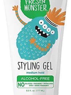 Gel para el cabello Fresh Monster Natural para niños y bebés, sin alcohol ...