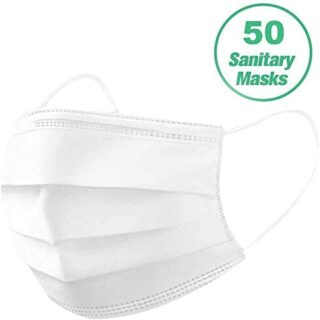 HUBEN 50PCS desechable 3 capas - Máscara de oreja transpirable - Bo ...