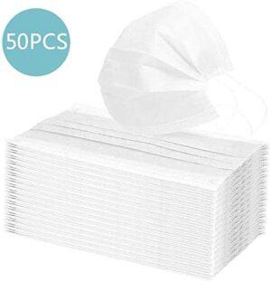 HUBEN 50PCS disposable 3 Layers - Breathable Ear Mask - Bo ...