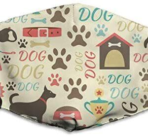 Houity - Máscara a prueba de polvo lavable, diseño de perro de dibujos animados ...
