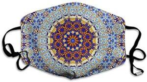 Houity Round Mandala Design Máscara lavable a prueba de polvo ...