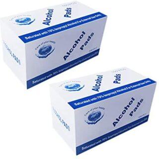 Iycorish 200 Pcs Desinfección húmeda desechable Toallitas con alcohol Pre ...