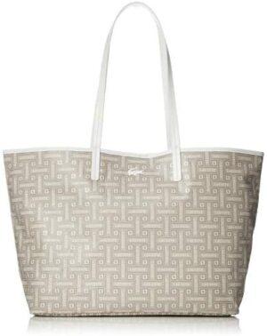 Lacoste Shopping Bag M Monographic Beige Mujer U Beige