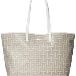 Lacoste Shopping Bag M Monographic Beige Mujer U Beige