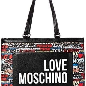 Love MoschinoJc4089pp1aMujerBolsos Plata (Argento) 12x26x40 cen ...