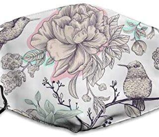 Máscara a prueba de polvo lavable de Houity, patrón de dibujo con pájaros ...