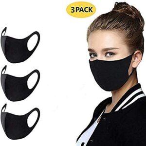 Máscara bucal antipolvo lavable, 3 piezas de máscaras elásticas Reuti ...