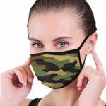 Máscara de camuflaje abstracta, moderna, unisex, para adultos, anti ...